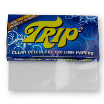 Trip 2 Clear Cellulose Rolling Papers King Size (40 Sheets)