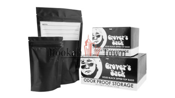 Grovers Sack Small Smell Proof Storage Resealable Bag (Black)