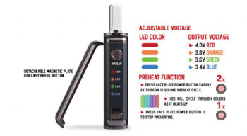 Wulf Duo 2 in 1 Cartridge Vaporizer Variable Voltage: by Wulf Mods