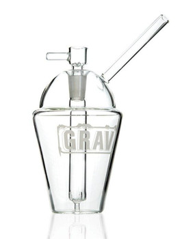 "8"" Grav Cup Bubbler Clear"