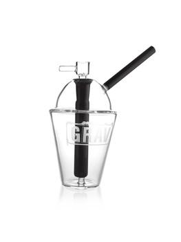"8"" Grav Cup Bubbler Black"