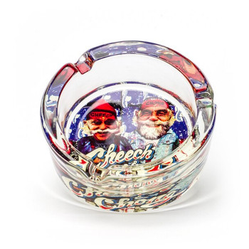 Cheech and Chong Glass Ashtray U.S.A.