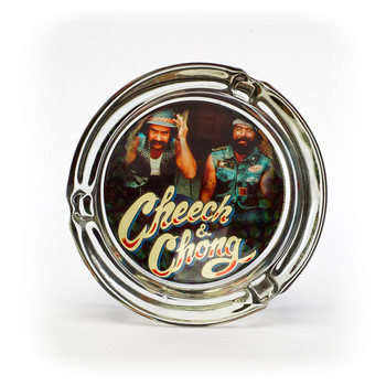Cheech and Chong Glass Ashtray The Guys