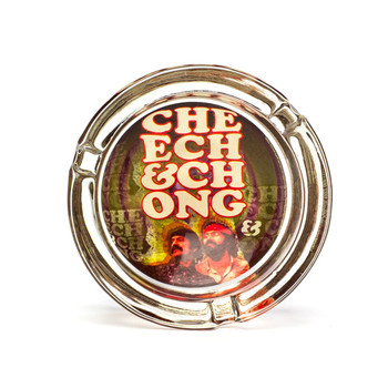 Cheech and Chong Glass Ashtray Retro