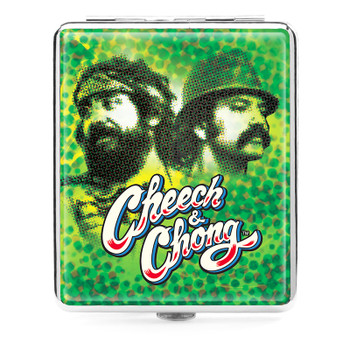 Cheech and Chong Deluxe Cigarette case 100mm 2 inch Reflections