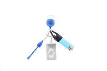 Relegated Renegades: Keychain Kit: Lighter , Grinder, Pipe