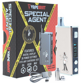 Special Agent Conceal Wax Vape Juice Pen Kit : Silver