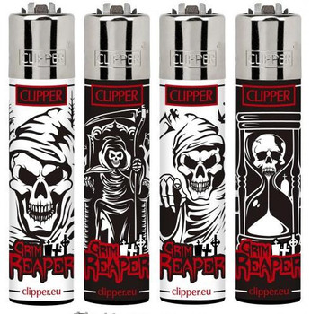 Grim Reaper (Skull) Lighters by Clipper