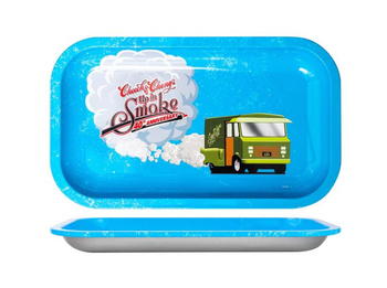 Cheech & Chong 40TH Anniversary Rolling Tray - Blue
