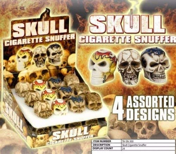 Skull Cigarette Snuffer, Assorted Designs