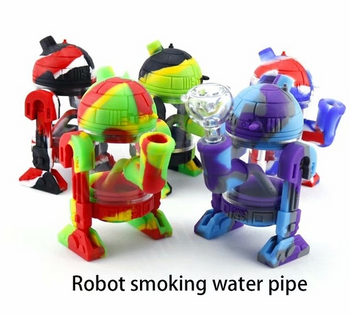 Robot Design Silicone Water Pipe