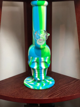 Silicone Skull Water Pipe
