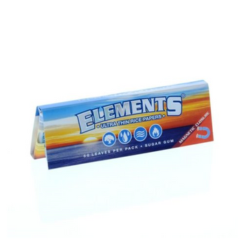 ELEMENTS 1 1/4 ULTRA THIN RICE ROLLING PAPERS 50 LEAVES