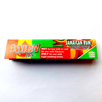 Juicy Jay's JAMAICAN RUM Kingsize Slim Rolling Paper - 32-Leaf Single Booklet