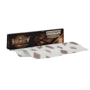 Juicy Jay's DOUBLE DUTCH CHOCOLATE Kingsize Slim Rolling Paper - 32-Leaf Single Booklet