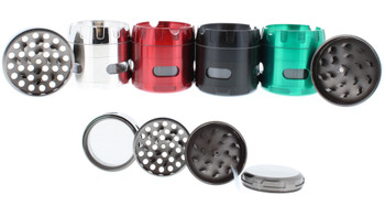 Double Cross Titanium Grinder Ashtray Black