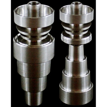 Universal 6 in 1 10mm 14mm and 19mm Domeless Titanium Nail