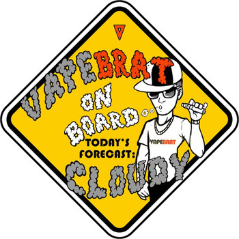 "VapeBrat On Board Sticker: 4"" x 4"""