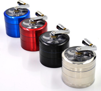 Spice Herb Grinder Tobacco Grinder 50mm 4 Layers CNC Teeth Zinc Alloy Cigarette Tobacco Grinder