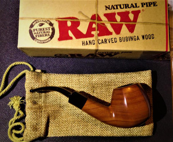 Raw Natural Bubinga Pipe Uncoated Wooded Pipe Purest Natural Fibers Unrefined Rawthentic