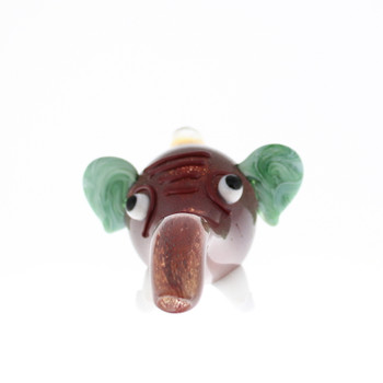 "6"" Elephant Head Glass Pipe"