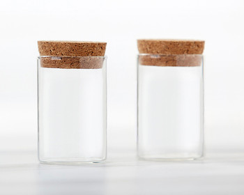MEDIUM Glass Tube Jar With Cork Top