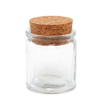 SMALL Glass Tube Jar With Cork Top