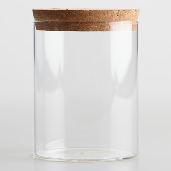 JUMBO Glass Jar  With Cork Top