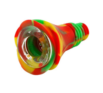 SILICONE and GLASS Universal 14-18mm Joint Bowl
