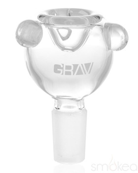 GRAV 14mm Male Bubble Bowl Clear