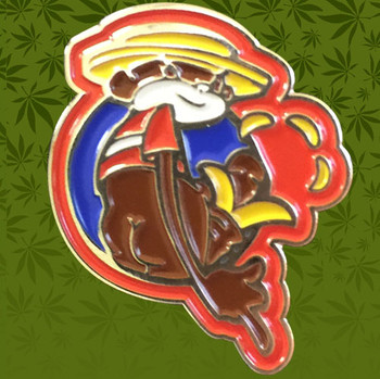 Super Troopers Johnny Chimpo Pin