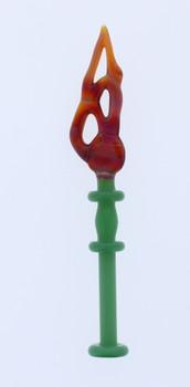 Monkey Boy Art - Green/Orange Slab Dab Tool (American Glass)