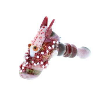 Handmade Glass Squid Hand Pipe Hammer Bubbler