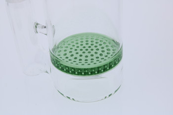 Green Honeycomb Perc  14mm Male Rounded Ash Catcher