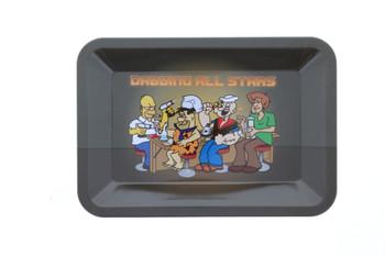 Cartoon Characters Dabbing All Stars Small Rolling Tray 5 x 7