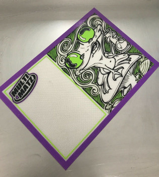 Frog Shroom Silicone Dab Mat  9 x 13 Inches