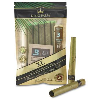 King Palm - XL (3 grams) Cordia Leaf - 5 Rolls
