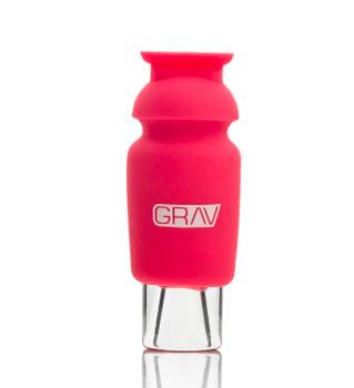 GRAV Silicone Capped Glass Crutch - PINK