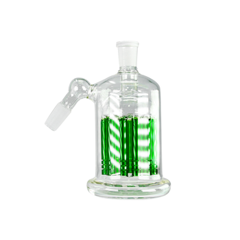 Ash Catcher with 11 Arm Perc 45 Degree 14mm Male - Green