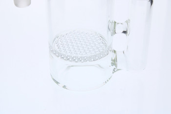 Clear Honeycomb Perc  14mm Male 90 Degree Angle Rounded Ash Catcher