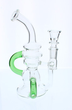 Green Recycler Water Pipe