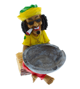 Rasta Man Log Ashtray - Small