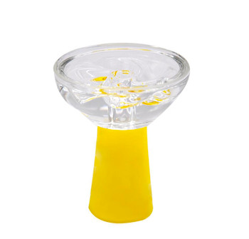 Silicone Glass Heat Resistant Hookah Bowl - Yellow