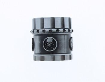 41mm 4 Level Skull Silver Grinder