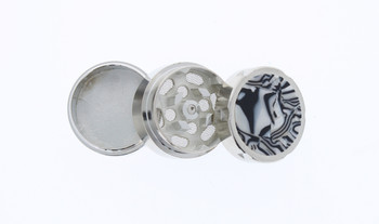 31mm Marble 3 Level Travel Grinder Black & White