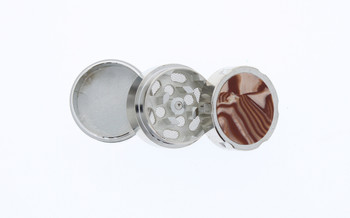 31mm Marble 3 Level Travel Grinder Bronze & Pearl