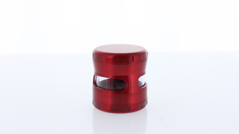 58mm Double Cross Titanium Grinder W/ Window Large Red