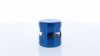 58mm Double Cross Titanium Grinder W/ Window Large Blue