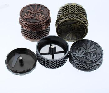3 Chamber Magnetic Leaf 50mm Grinder