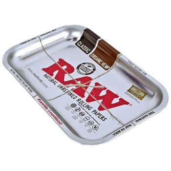 RAW Rolling Classic Silver Metallic Tray - 11 x 7